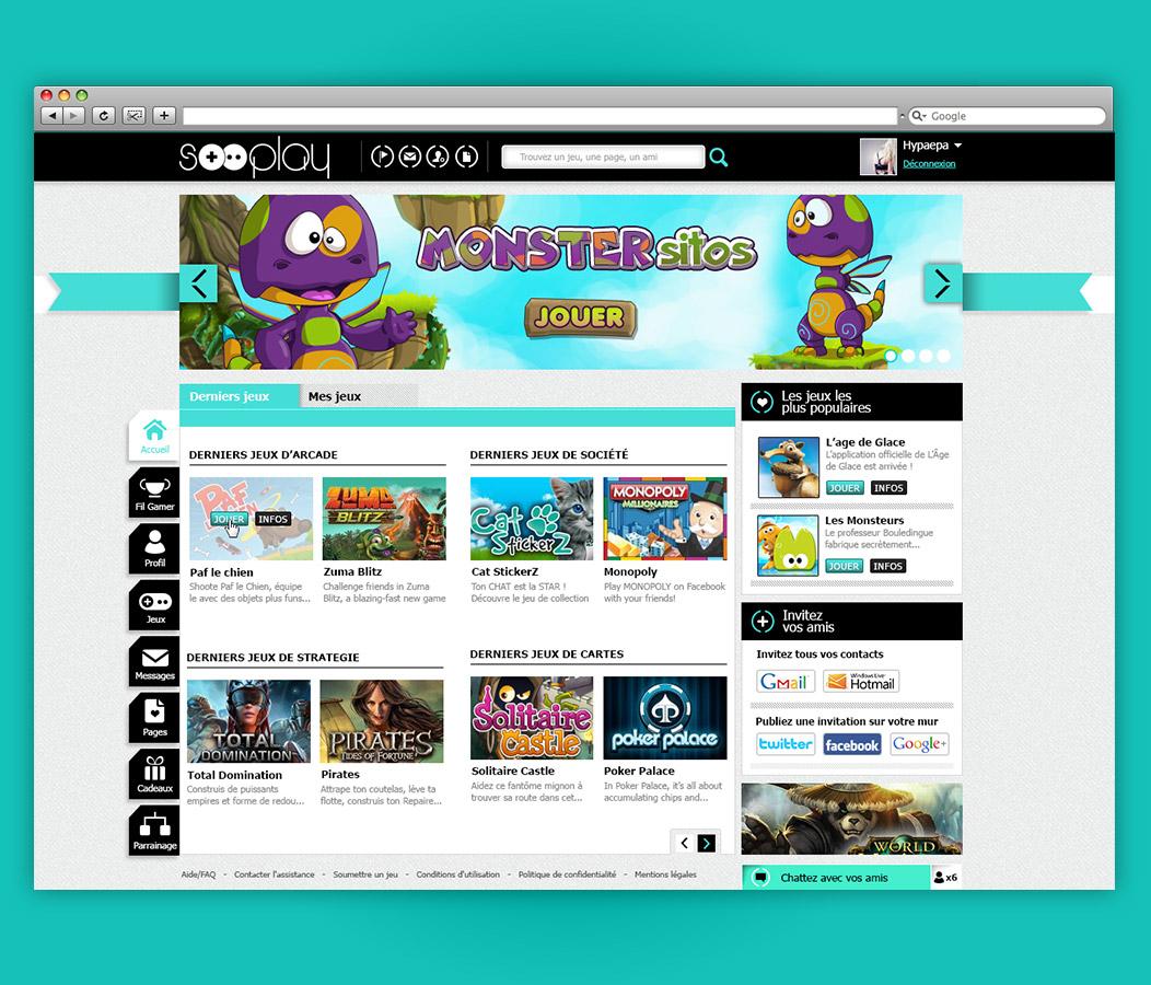 Sooplay plateforme sociale de jeux en ligne graphiste for Site de jardinage en ligne