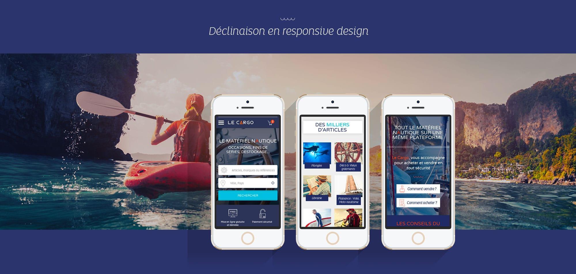 Graphiste Site internet pour mobile