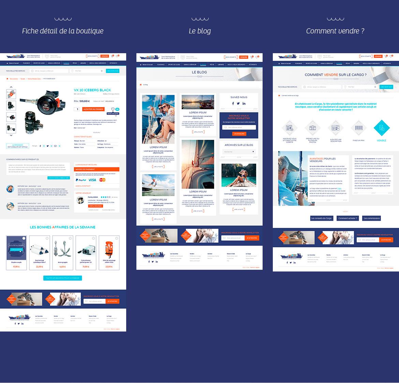 Webdesign de la boutique