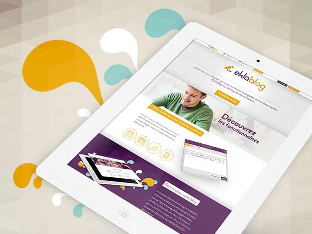 Design de la plateforme de Blogging Eklablog