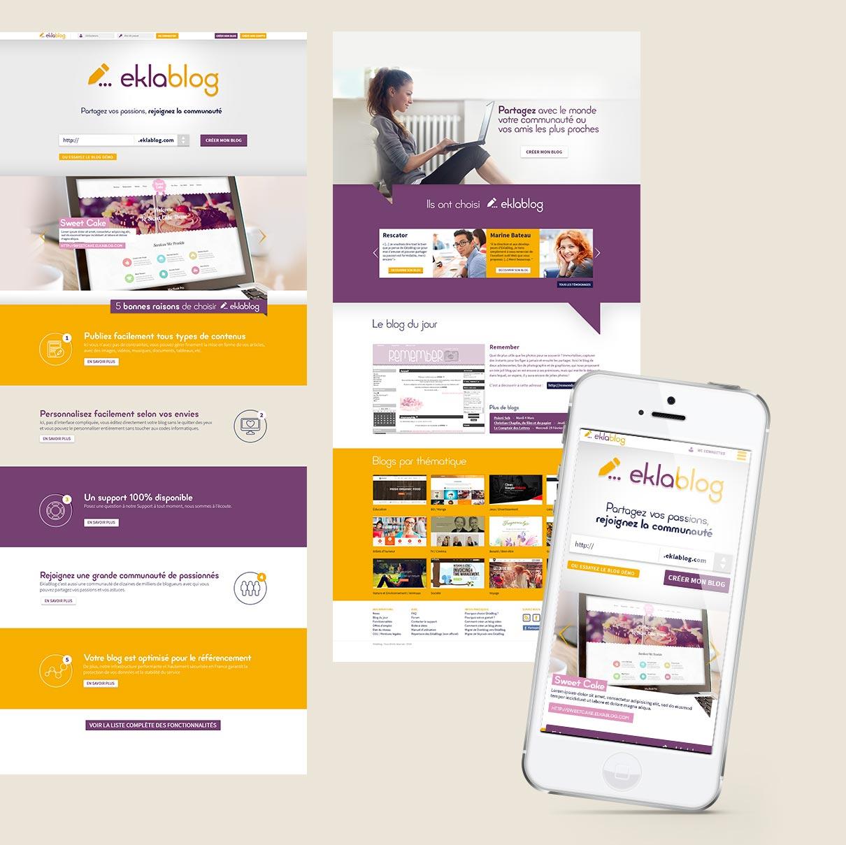 Création de la homepage design