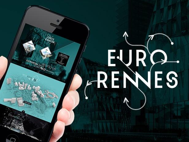 Création du webdesign d'une long page pour Eurorennes