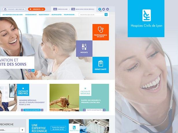 Graphisme web de l'Hospice de Lyon