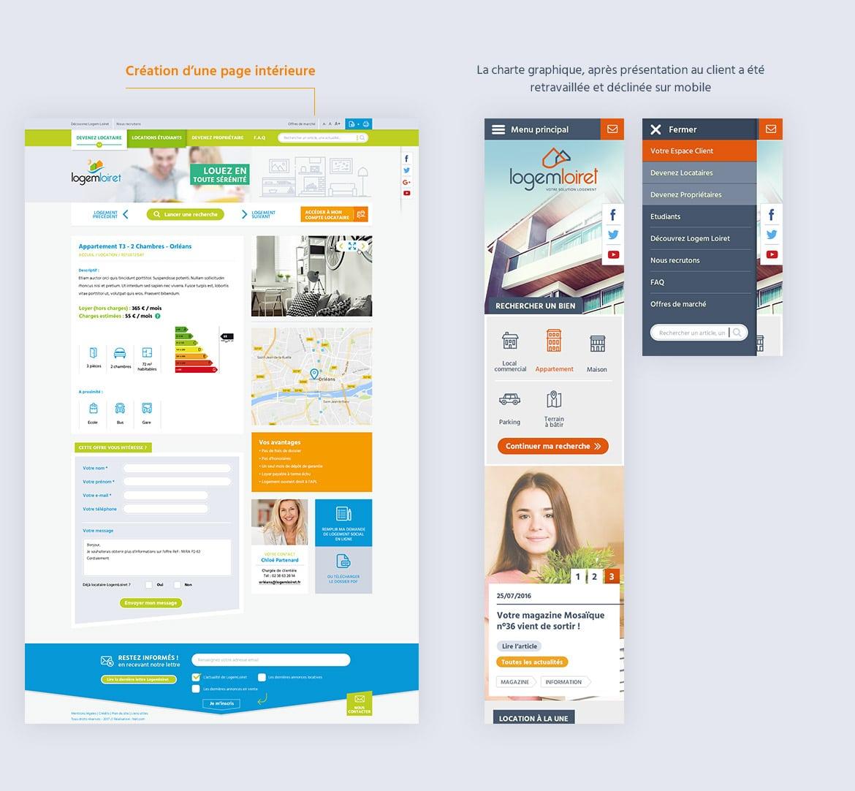 Déclinaison des pages Logem Loiret