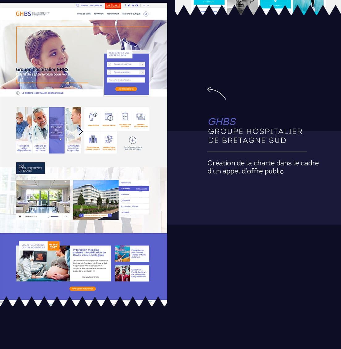 Webdesigner freelance hopital de Bretagne