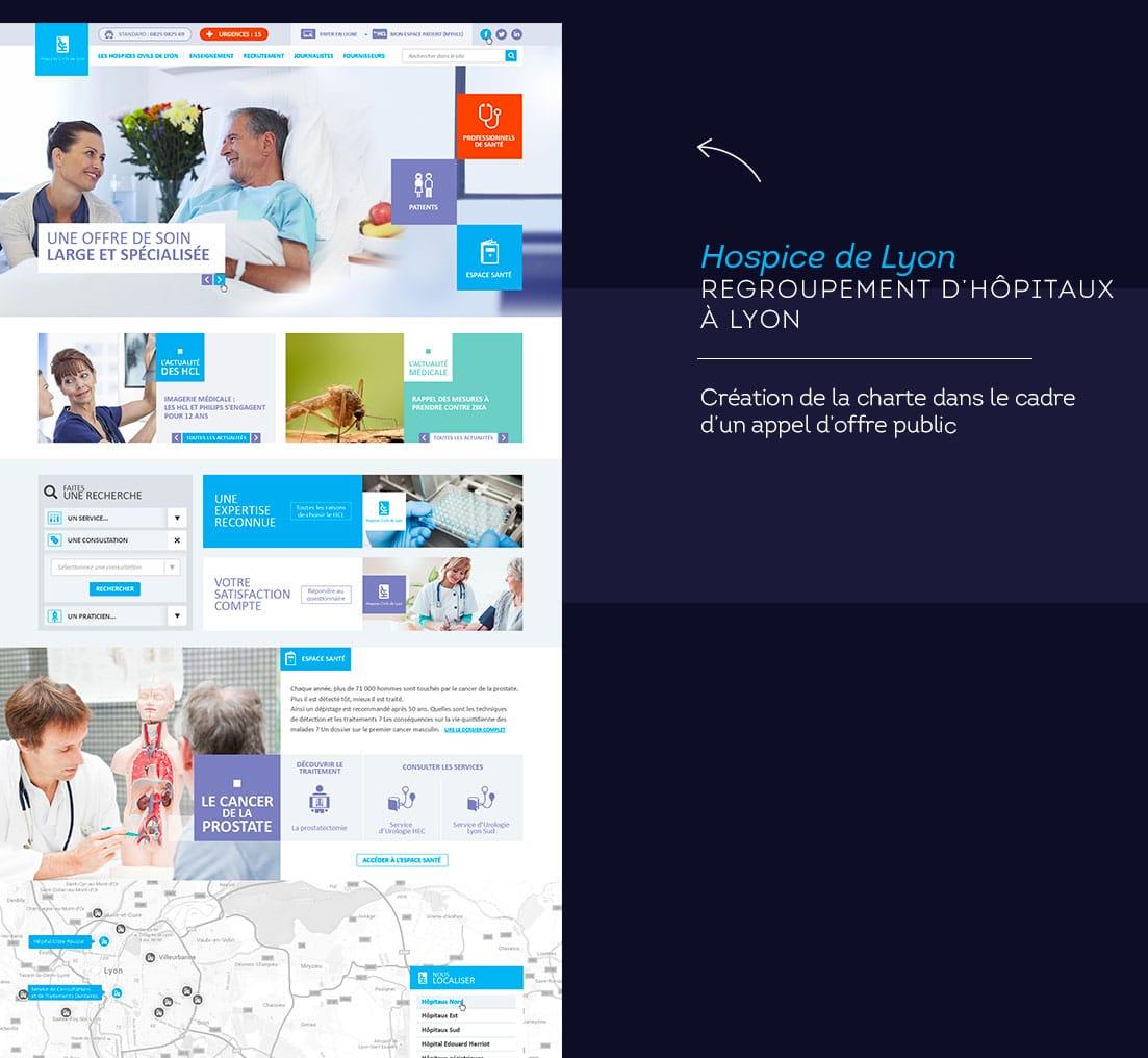 Webdesigner freelance hospice de Lyon