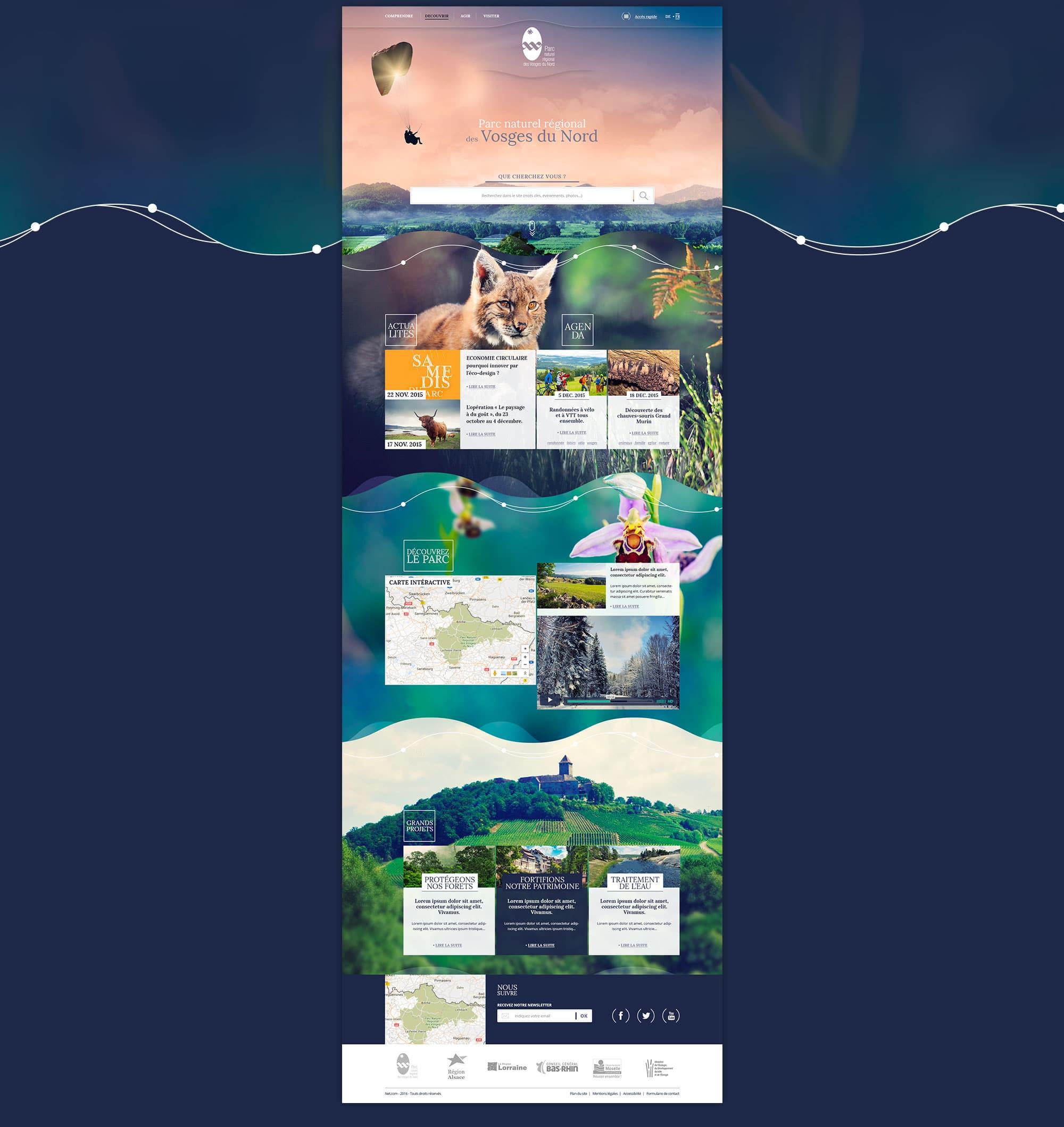 Webdesign freelance Parc Naturel Vosges