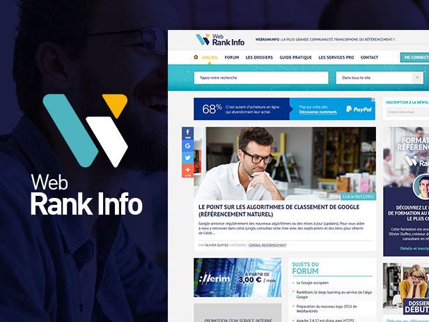 WebRankInfo - Webdesign du n°1 du SEO en France