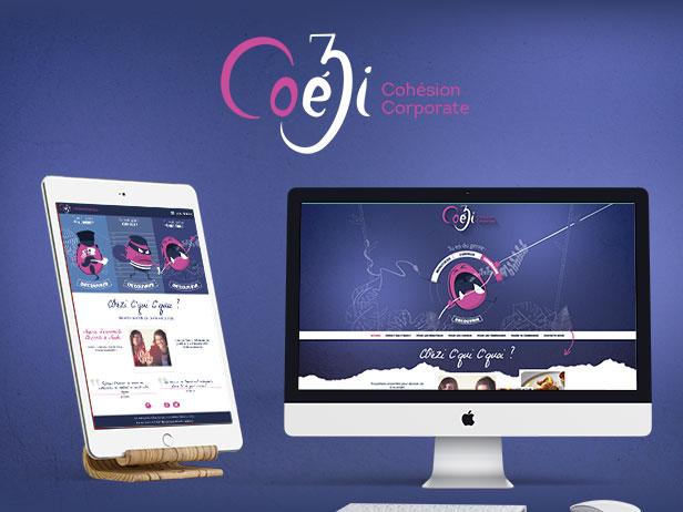 Site internet de l'agence événementielle à Nantes Coezi