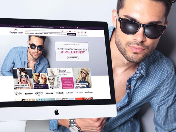 Webdesign de la boutique en ligne Designer Seven