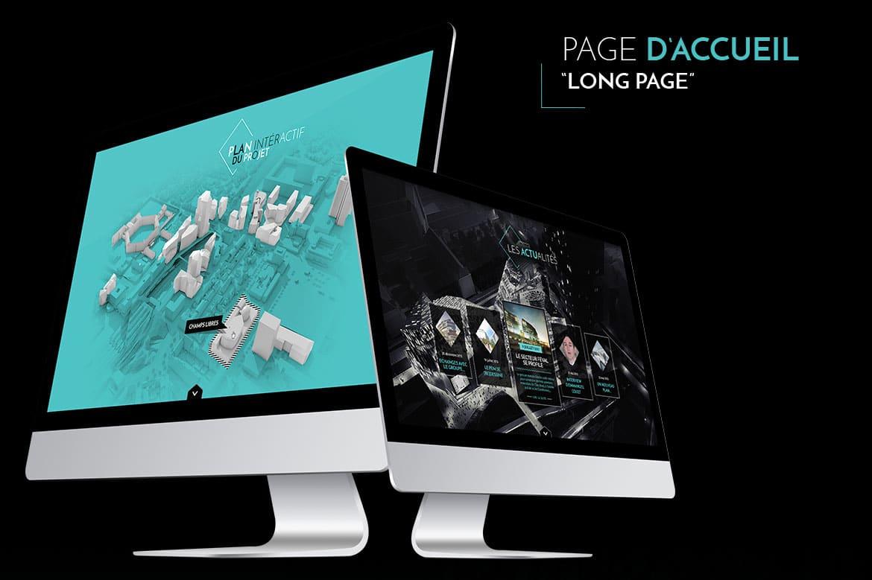 Eurorennes webdesign de la long page