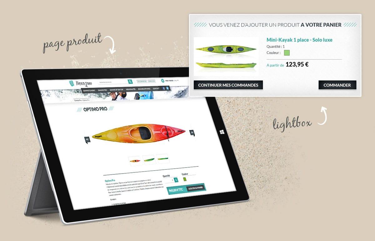 Site ecommerce en responsive