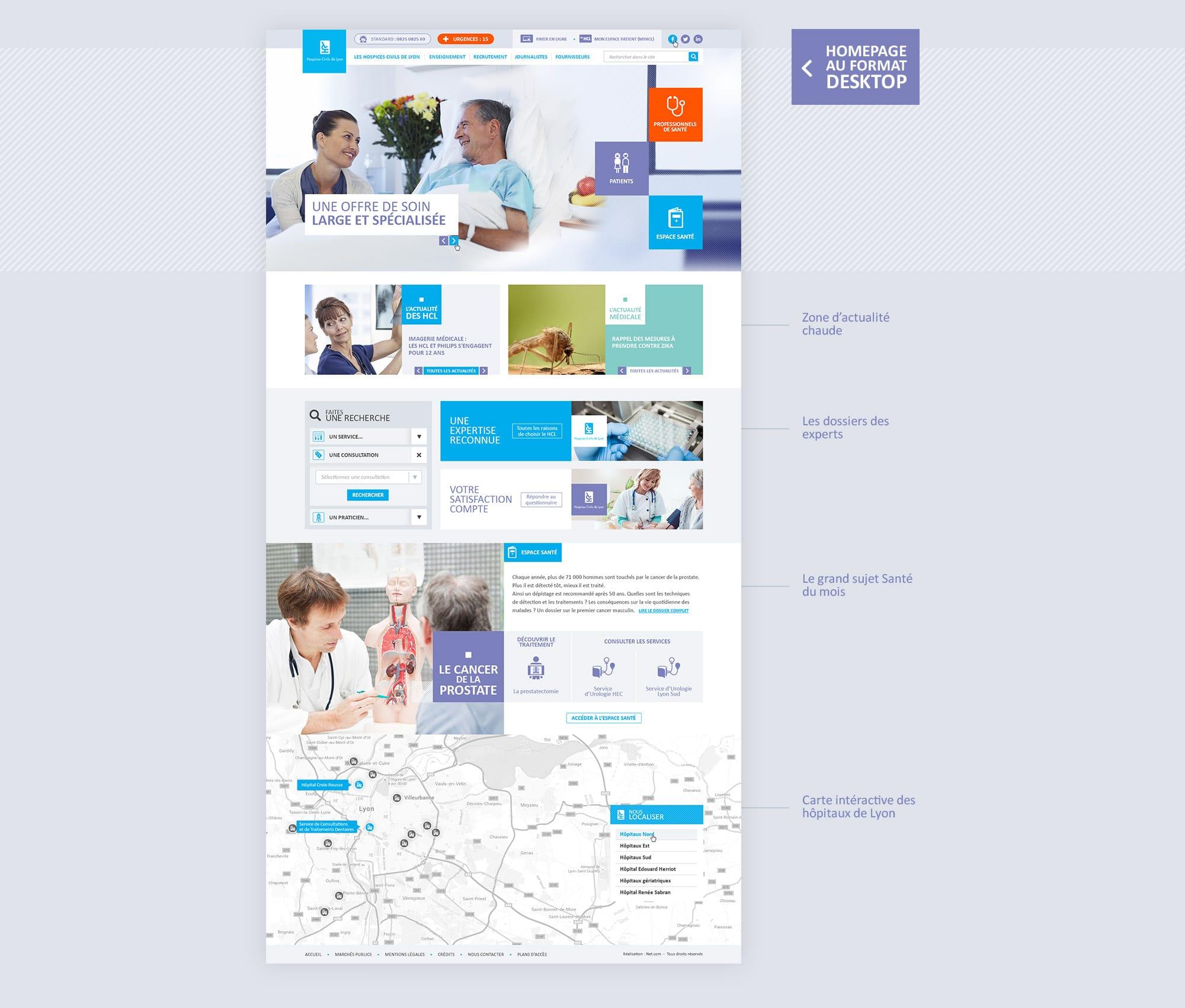 Création du design web de la homepage