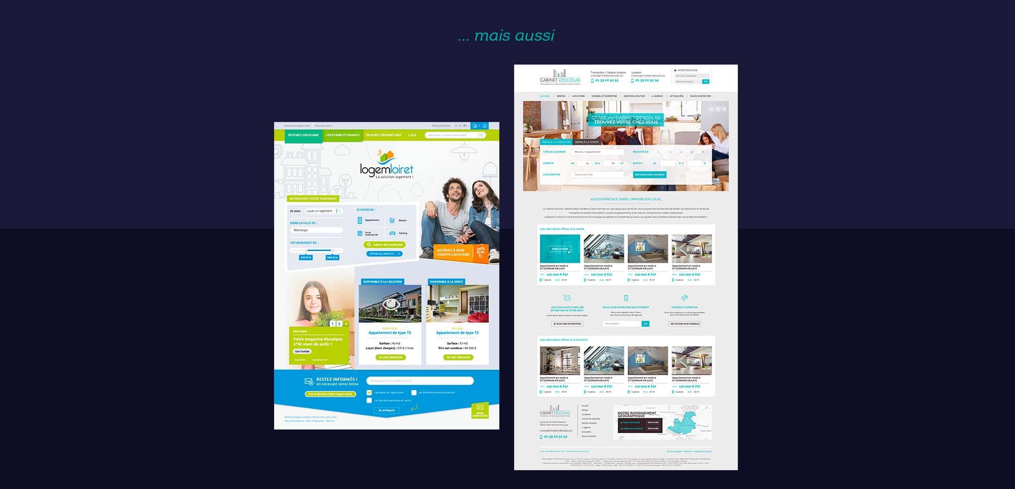 Webdesigner freelance agence immobiliere