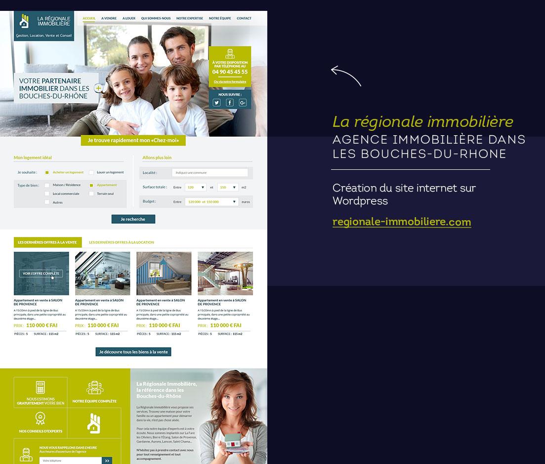 Graphiste freelance La régionale immobilière