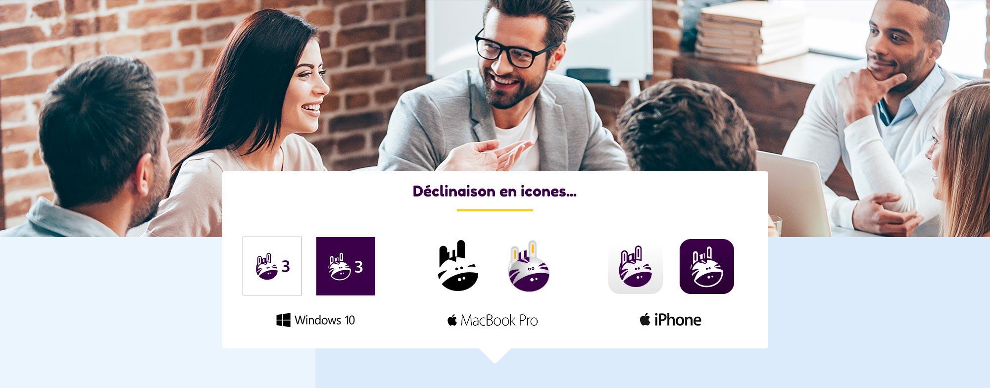 Création des icones de l'application