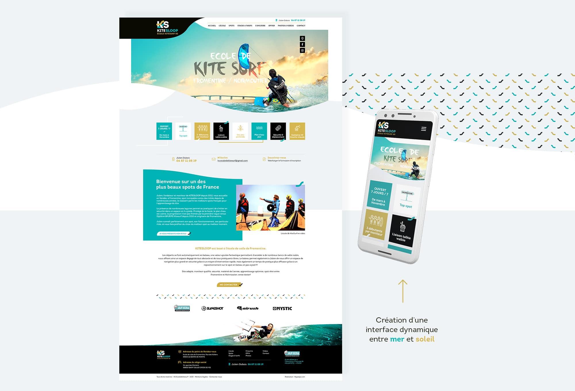 Création du webdesign de l'interface
