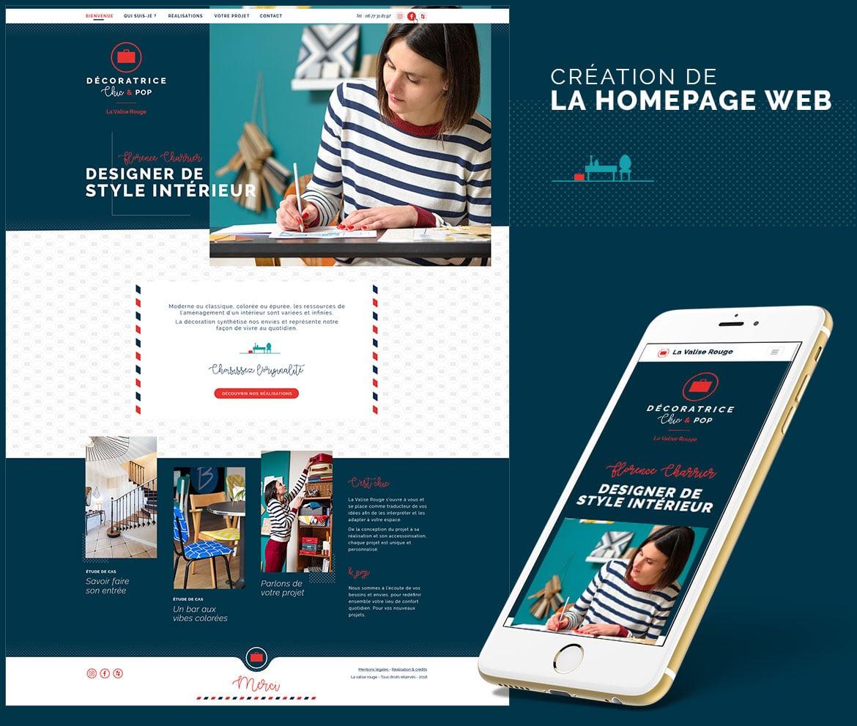 Webdesign de la homepage en Vendée