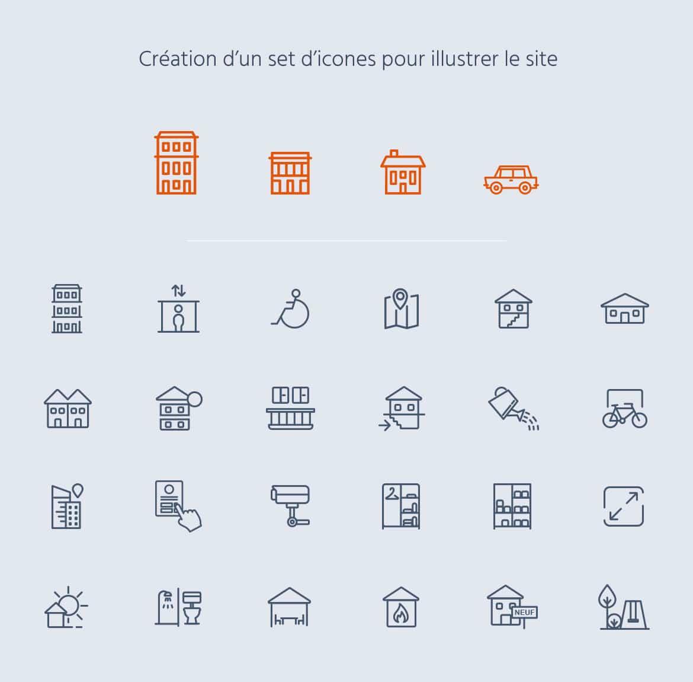 Création d'un set d'icones Logem Loiret