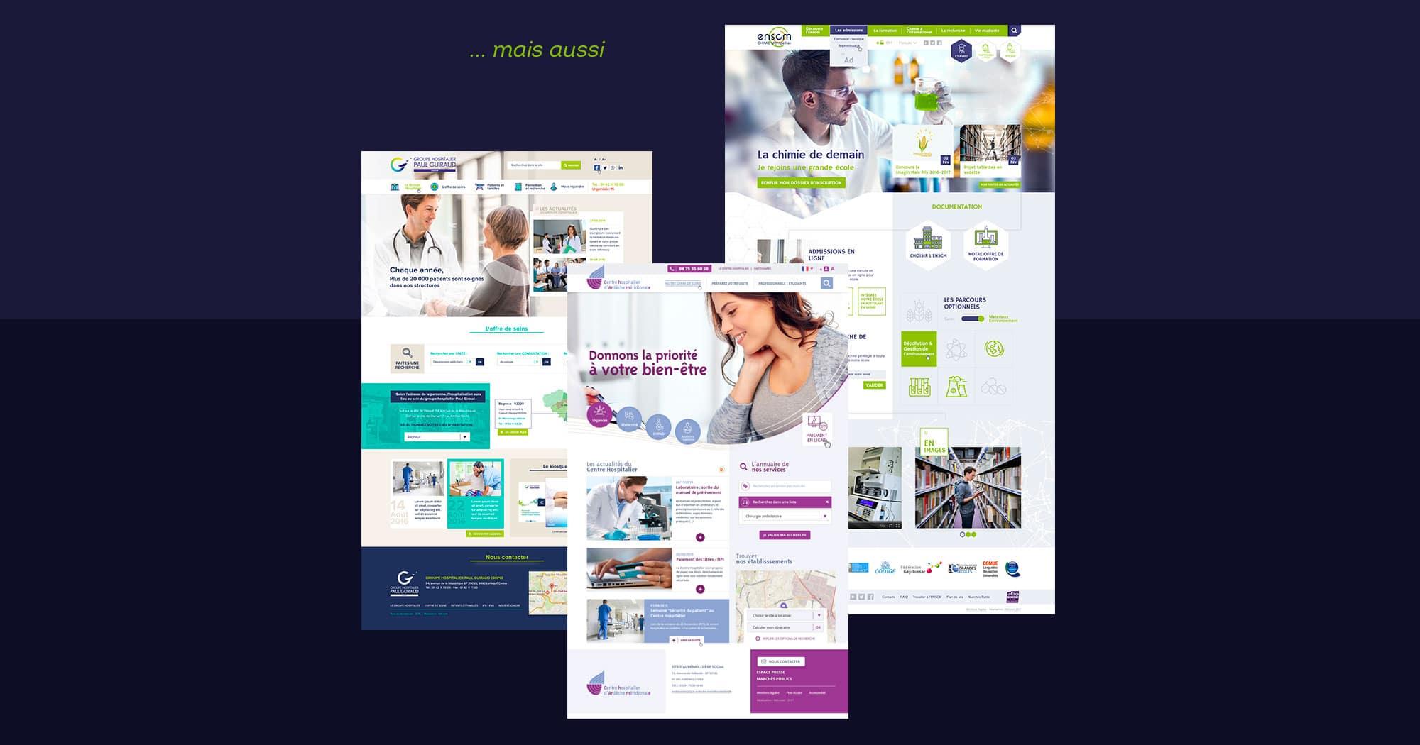 Webdesigner freelance domaine hopitaux publics