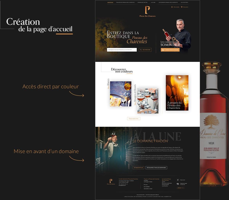 Ergonomie et wireframe de la homepage