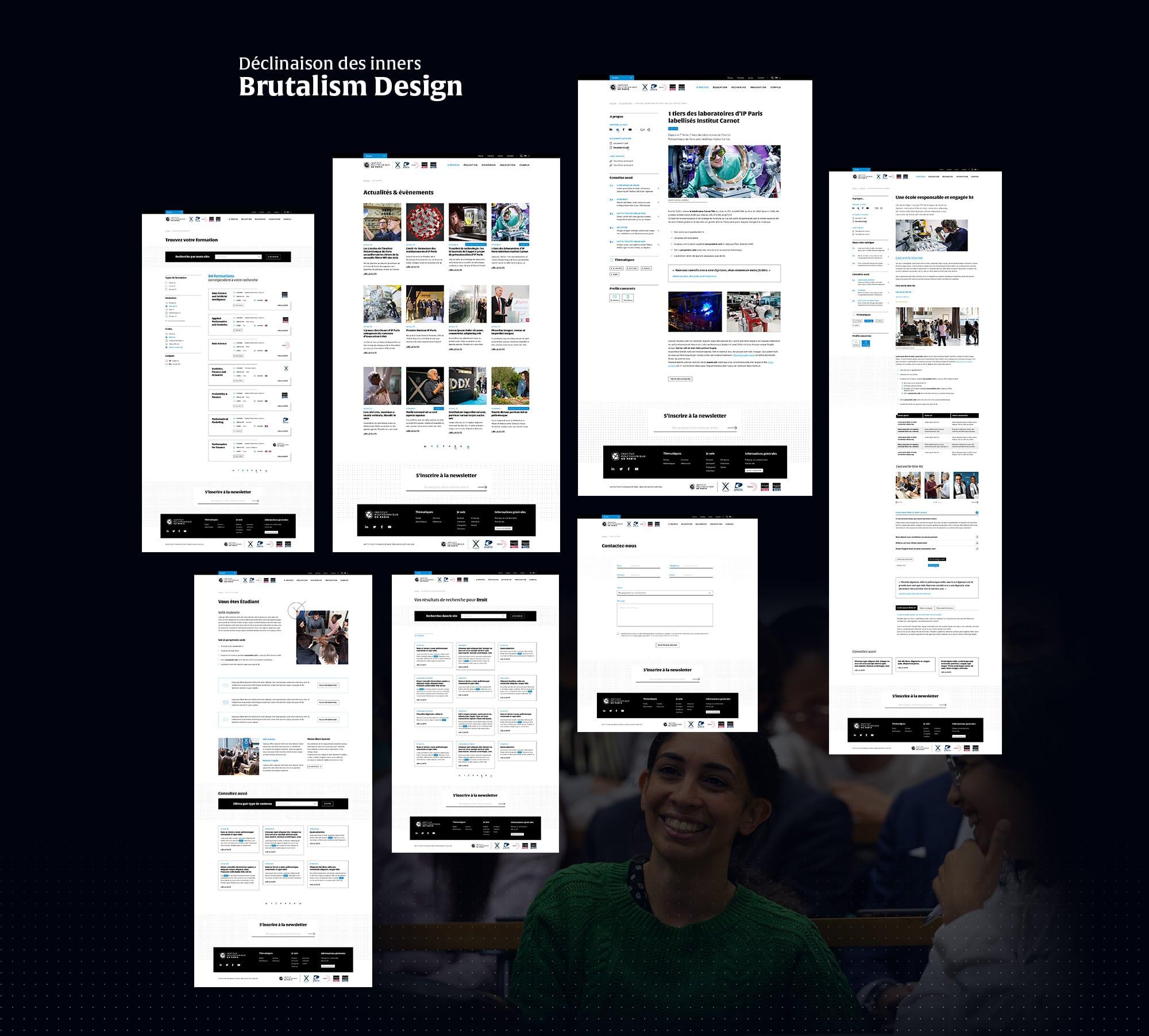 Design responsive de pages intérieures