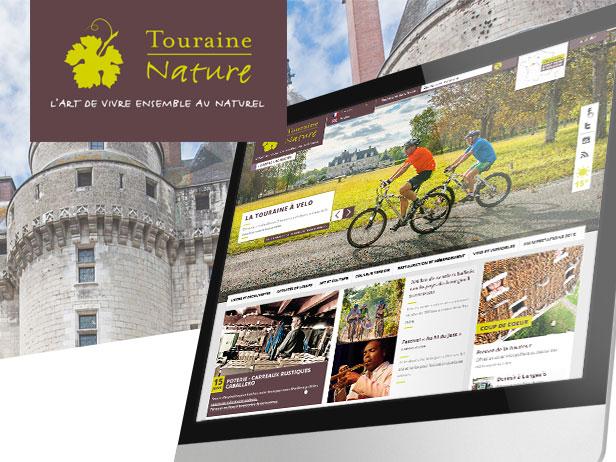 Création de la charte graphique du site Wordpress de Touraine Nature