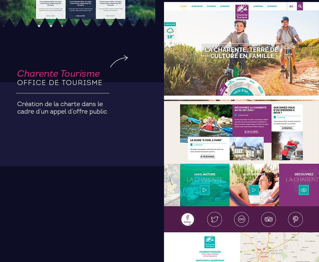 Charte graphique Tourisme en Charente