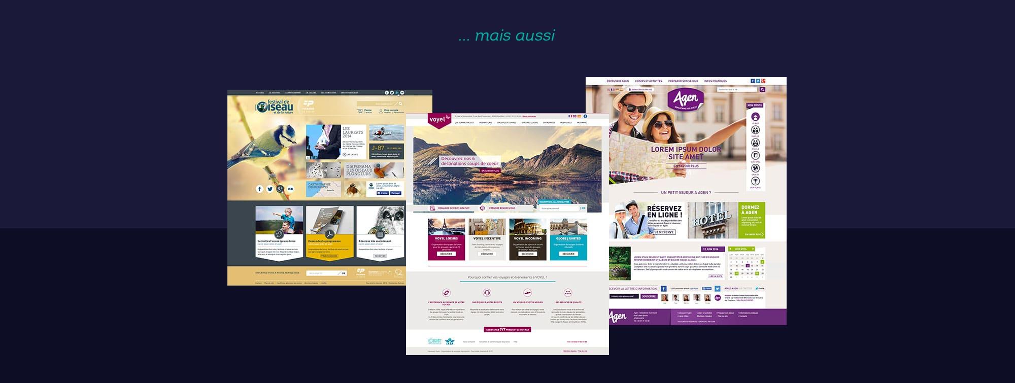 Webdesigner freelance domaine tourisme