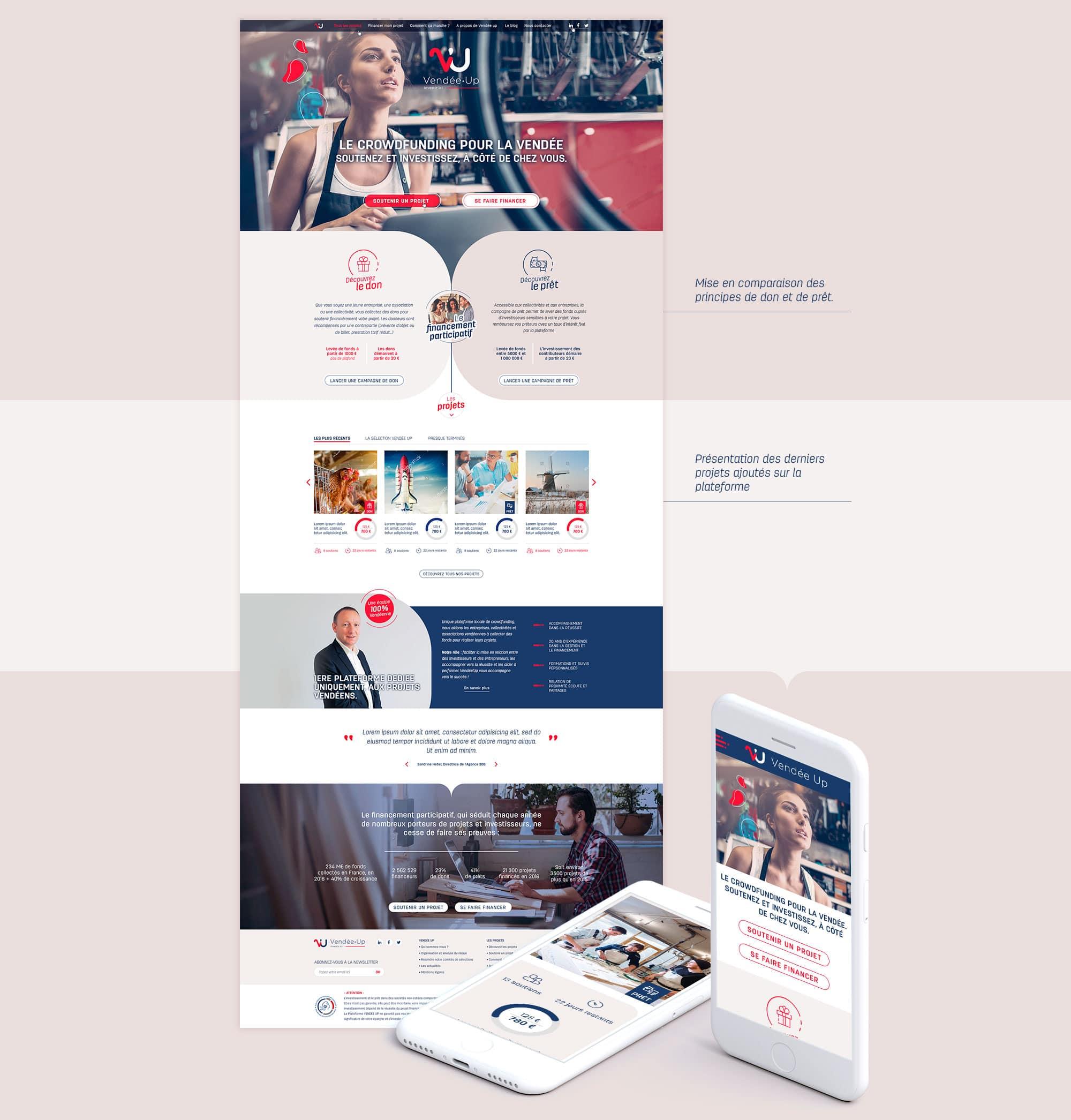 Création de la page d'accueil