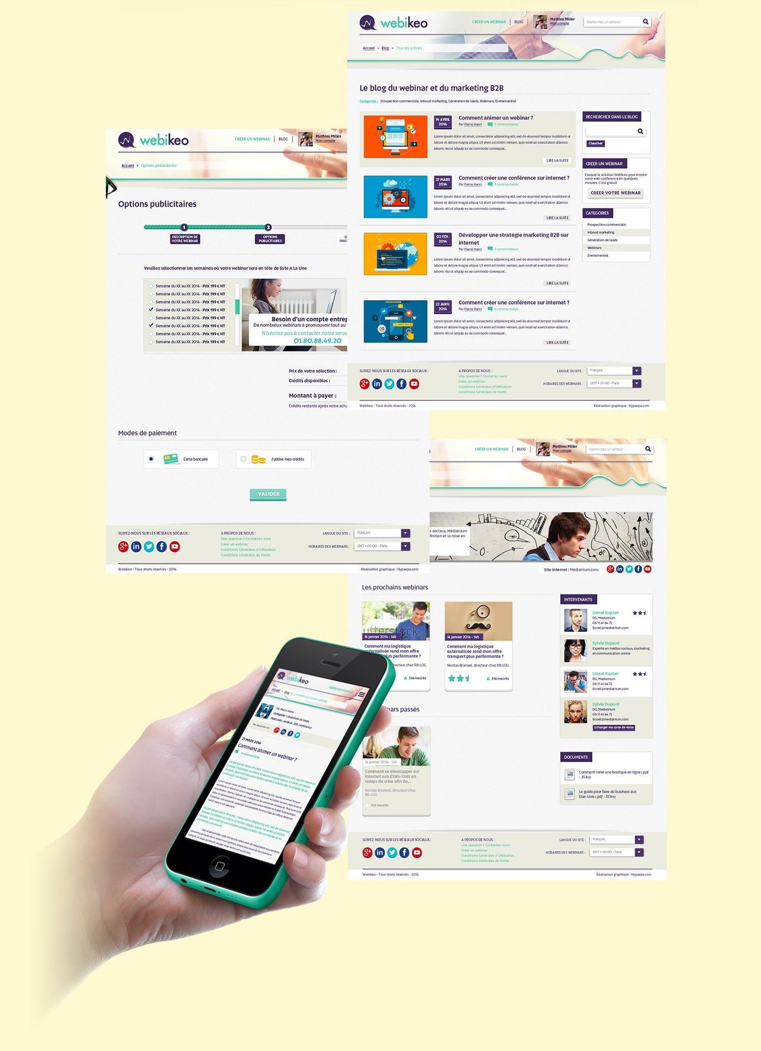 Création des pages au format responsive