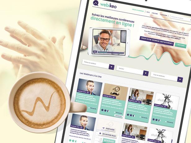 Design de la plateforme de webinars, Webikeo