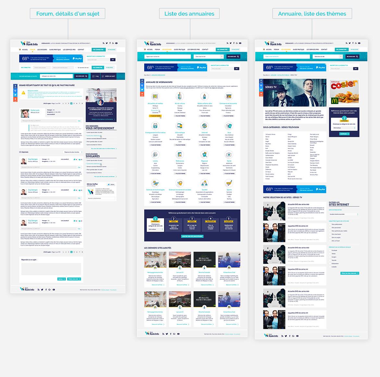 Design de pages intérieures