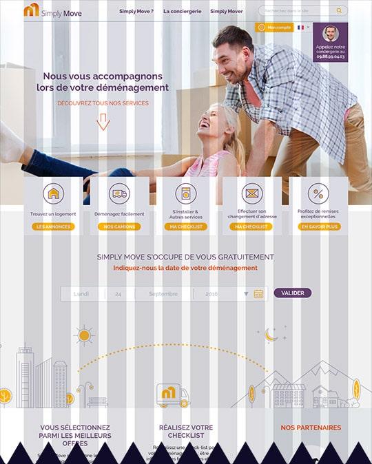 Webdesign sur une grille responsive